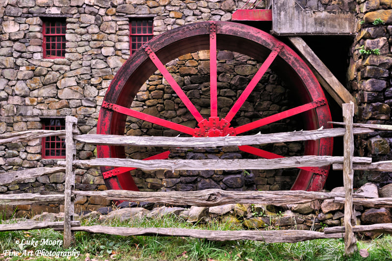 Old Grist Mill industrial art prints and wall decor by Luke Moore.