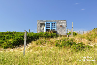 A July, landscape photograph of the Margo Gelb beach cabin in Provincetown, Massachusetts, Cape Cod. This dune shack is the essence of simple, rustic living. A perfect spot nestled in the dunes for that beach retreat or artist sabbatical. A great addition to your collection of beach house decor. Please visit my Fine Art America or Pixels websites for more Cape Cod beach photography.